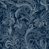 Vector Jeans background with flowers. Denim seamless pattern. Blue jeans fabric. Floral grunge background stock photos