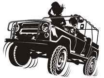 Free Vector Jeep Detailed Silhouette Stock Photos - 5484783