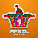 Vector Jester Hat shape. Illustration for April Fool`s Day decor Royalty Free Stock Photos