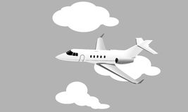 Vector jet plane Royalty Free Stock Images