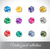 Vector jewel collection Royalty Free Stock Photo