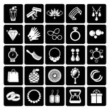 Vector jewelry and accessories icons Stock Photography