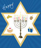 Vector - Jewish Holiday of Hanukkah Royalty Free Stock Image