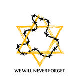 Vector Jewish star with barbed wire. Royalty Free Stock Photography