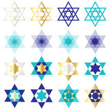 Vector Jewish stars Stock Image
