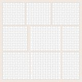 Vector jigsaw puzzle patterns set Royalty Free Stock Images