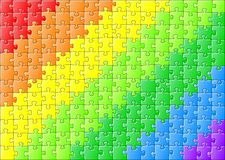 Jigsaw puzzle in rainbow colors. Vector jillustration of a jigsaw puzzle in rainbow colors royalty free illustration