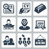 Vector job icons set vector illustration
