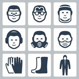 Vector job safety icons Stock Photo