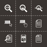 Vector job search icon set Royalty Free Stock Photography