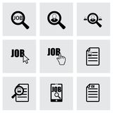 Vector job search icon set Stock Images