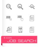 Vector job search icon set Royalty Free Stock Images