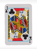 Vector joker of clubs on abstract playing card Royalty Free Stock Photo
