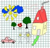 Vector jonge geitjesachtergrond vector illustratie