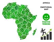 Vector Joy Africa Map Composition de sonrisas Libre Illustration
