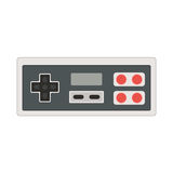 Vector joystick icon illustration. Geek gaming retro gadget from Stock Photos