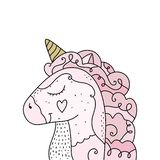 Vector and jpg image, clipart, editable isolated details. Unicorn head funny art. Vector and jpg image, clipart, editable isolated details. Unicorn head art royalty free illustration
