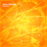 Vector juicy orange abstract background with highlights.  royalty free illustration