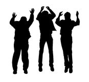 Vector jumping boys Stock Images