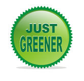 Vector just greener button. Isolated white vector just greener Royalty Free Stock Images