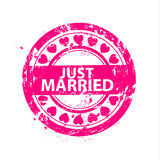 Vector just married stamps Stock Images