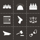 Vector justice  icons set Stock Photo