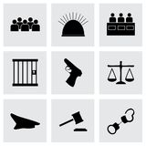 Vector justice  icons set Stock Photos