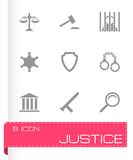 Vector justice icons set Stock Photography