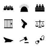 Vector justice  icons set Stock Image