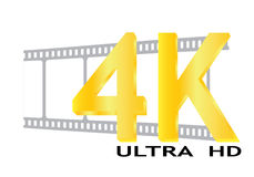 Vector 4k ultra hd. Eps 10 file royalty free illustration