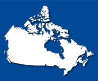 Vector kaart Canada Stock Foto