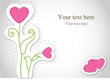 Vector kaart met bloemen. Valentijnskaart. Royalty-vrije Stock Fotografie