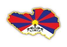 Vector kaart Tibet Stock Foto's