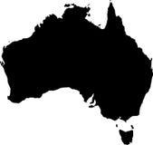 Vector kaart van Australië Stock Foto's