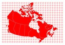 Vector kaart van Canada Stock Afbeeldingen