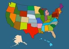 Vector kaart van de V.S. Stock Afbeelding