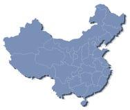 Vector kaart van de Volksrepubliek China (de VRC) Stock Fotografie