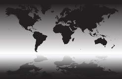 Vectorkaart van de wereld Stock Foto's