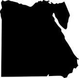Vector kaart van Egypte Royalty-vrije Stock Foto's