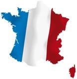 Vector kaart van Frankrijk Stock Fotografie