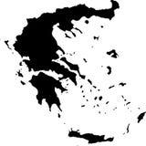 Vector kaart van Griekenland Stock Foto