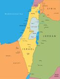 Vector kaart van Israël Stock Foto