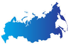 Vector kaart van Rusland Royalty-vrije Stock Afbeeldingen