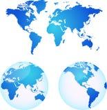 Vector kaarten van aarde Stock Foto