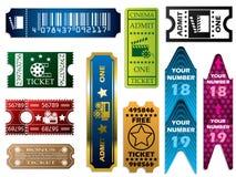 Vector kaartjesreeks Royalty-vrije Stock Foto's