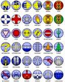 Vector kaartpictogrammen Stock Afbeeldingen