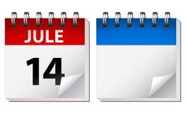 Vector kalender Stock Afbeeldingen