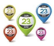 Vector kalenderelement voor uw Web Stock Foto's