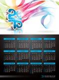 Vector Kalenderillustration 2015 auf abstraktem Farbhintergrund Lizenzfreies Stockfoto
