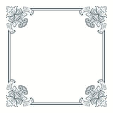 Vector kalligrafische overladen uitstekende frame grens Stock Fotografie